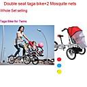 ruituo ™ bicicleta Taga plegable madre 16inch bebé cochecito 3 en 1 todo el conjunto asientos dobles Taga bicicleta añadiendo  2 neta mosquite