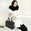 b32014 nueva causal de la moda de invierno elegante abrigo largo de lana delgada de Hitomi mujeres