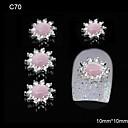 10pcs girasol rosa decoración del arte accesorios de diamantes de imitación de aleación de bricolaje uñas