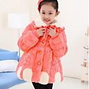 Girls Solid Fur Coat