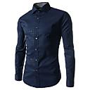 Brother New Fashion Check Floral Print Long Sleeve Shirt  5039(dark blue,light blue,white)
