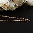 Jinfu elegante chapado en oro collar cuadrado