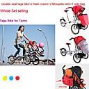 conjunto entero bicicleta Taga para los gemelos añadiendo  2mosquite neto  2  1 tapa de la lluvia junto a la bolsa ruituo ™ plegable 16inch