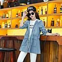 Aiwei abrigo largo jean básico de las mujeres