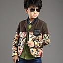 Boys Complex Color Flower Hoodie Coat