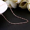 Jinfu elegante chapado en oro rosa collar de oro fino