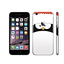 SKINAT 3M soft skin for iPhone 6 Plus sticker back decals sticker set cute big penguin mobile phone stickers