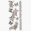 1pc Flower Winter Rose Bracelet Waterproof Body Art Tattoo Pattern Temporary Tattoos Sticker(18.5cm8.5cm)