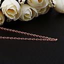 Jinfu elegante chapado en oro rosa collar de oro cuadrado