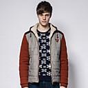 abrigo de invierno con capucha de la chaqueta del mosaico mangas de punto de magicredmen