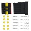 10 Kit 1.5mm Car Boat Motorcycle Bike Truck 5 Pin Way Waterproof Electrical Wire Connector Plug