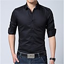 Mens Solid Color Long Sleeve Shirt