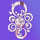 """Image of 20 """"h stile moderno cerchi circolari 3d orologio da parete specchio acrilico fai da te"""