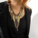 Womens Retro Multi Element Tassel Necklace
