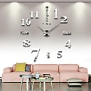 Image of grande orologio da parete fai da te di grandi dimensioni, moderno orologio da parete 3d con numeri adesivi specchio per il regalo decorazioni home office