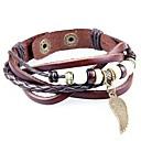 Retro Bracelet String Of Wooden Beads Angel Wings