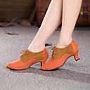 Non Customizable Womens Dance Shoes Modern Suede Cuban Heel Blue/Brown/Pink
