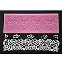 Image of quattro c color muffa pizzo torta pad goffratura cuore mat silicone pizzo rosa