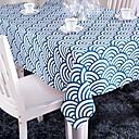 blu tovaglia stampata