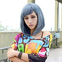 Fashion Female Pear Flower Head Dark Blue Wigs