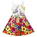 Girls Fashion Flower Print  Party Princess Kids Clothing Lovely Princess Dresses (100% Cotton)