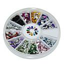 600Pcs 12 Color Drop Shape Acrylic Diamond Nail Art  Decoration kits