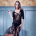 Women Nylon/Spandex Lace Cut Out Backless Sheer Lingerie/Ultra Sexy Nightwear