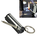 Camping Waterproof Reusable Match Cylinder Stainless Steel Flint Lighter Matchstick 5.51.21.2 cm