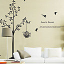 Environmental Removable Tree and Birdcage PVC Wall Sticker