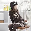 Girls Summer/Spring/Fall Micro-elastic Medium Long Sleeve Clothing Sets (Cotton)