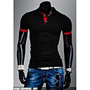 Mens Pure Black/Blue/Red/White/Gray Cotton T-Shirt,Casual