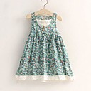 Girls Fashion Blue Floral Cotton Sundress Party Lovely Children Clothes Dresses