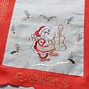 100% poliestere Babbo Natale modello polivalente tovaglia con dimensioni 25x33cm (9.8x13 pollici)