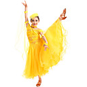 High-quality Spandex with Crystals Modern Dresses for Childrens Performance(More Colors) Kids Dance Costumes