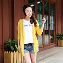 Womens Colorful Casual Long Sleeve Long Blouse (Chiffon)