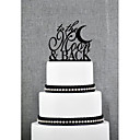 Cake Toppers Acrylic To The Moon  Back Cake Topper