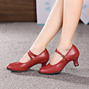 Non Customizable Womens Dance Shoes Modern Leather Cuban Heel More Colors