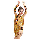 High-quality Milk Fiber with Tassels and Animal Print Latin Dance Dresses for Childrens Performance (More Colors) Kids Dance Costumes