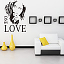 Wall Stickers Wall Decals, Style Bob Marley One Love English Words  Quotes PVC Wall Stickers