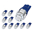 8 x 194 168 2825 T10 5-SMD Blue LED Car Lights Bulbby britelites