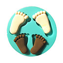 Foot Footprint Baby Silicone Fondant Cake Molds Chocolate Mould For The Kitchen Baking Sugar Cake Decoration Tool