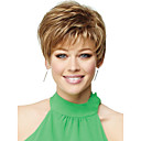 High Quality Capless Short Wavy Mono Top Human Hair Wigs 6 Colors to Choose