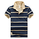 Mens Short Sleeve Polo , Cotton Casual/Work/Formal Striped