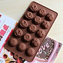 Bakeware Silicone Flowers Baking Molds for Chocolate Cake Jelly (Random Colors)