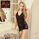 SKLV Womens Lace/Organza Gowns/Ultra  Plus Size Sexy Cut Out Translucence Backless Nightwear