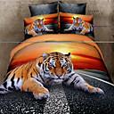 Shuian 3D Oil Painting Bedding Set Queen Size 100% Cotton 4pcs Comforter Duvet Covers Bed Sheet Flat Sheet Pillowcase