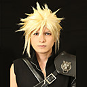 Angelaicos Men Cloud Strife Final Fantasy VII Golden Boys Short Layered Prestyled Halloween Costume Cosplay Wigs