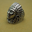 Mens Ancient Indian Chief Titanium Ring