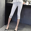 Womens Solid White/Black Skinny Pants , Bodycon Lace