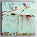Oil Painting Birds on the Tree  Hand Painted Canvas with Stretched Framed